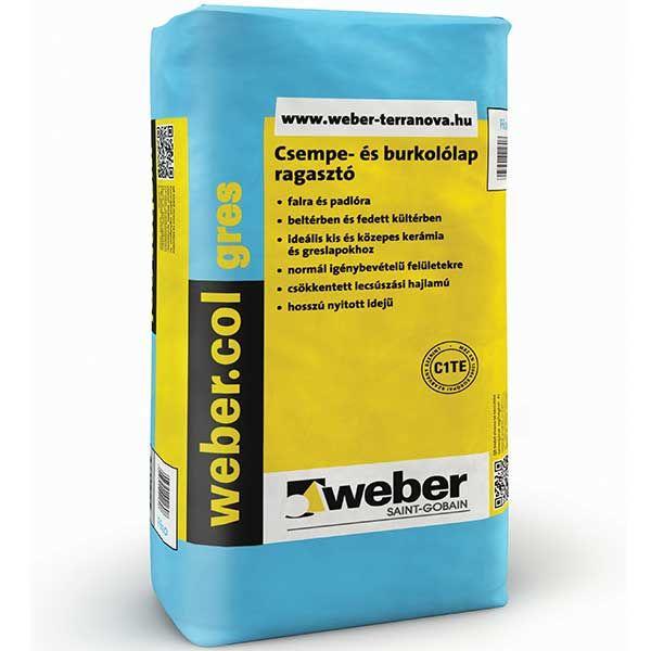 Weber Webercol Gres C1TE gres ragasztó