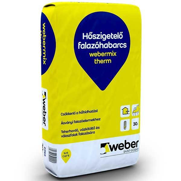 Weber Webermix Therm hőszigetelő falazóhabarcs