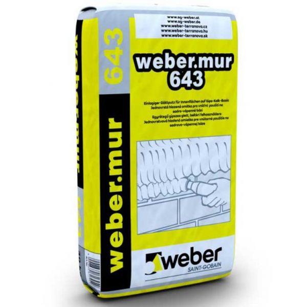 Weber Webermur 643 könnyített gépi gipszvakolat beltéri felhasználásra