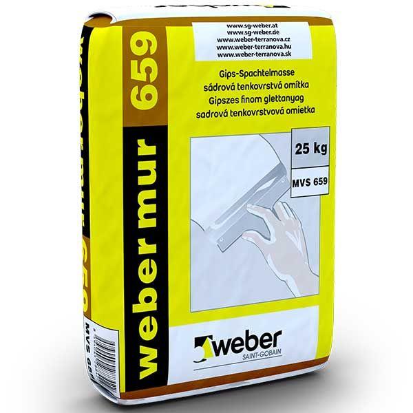 Weber Webermur 659G gipszes simítóvakolat