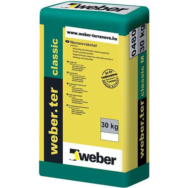 Weber Weberter Classic M ásványi nemesvakolat, médium, 1. színcsoport